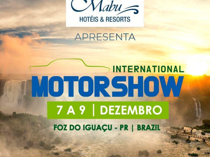 1ª edição do Motor Show Internationalacontece entre os dias07 e 09 de dezembronoMabu Thermas Grand Resortem Foz do Iguaçu