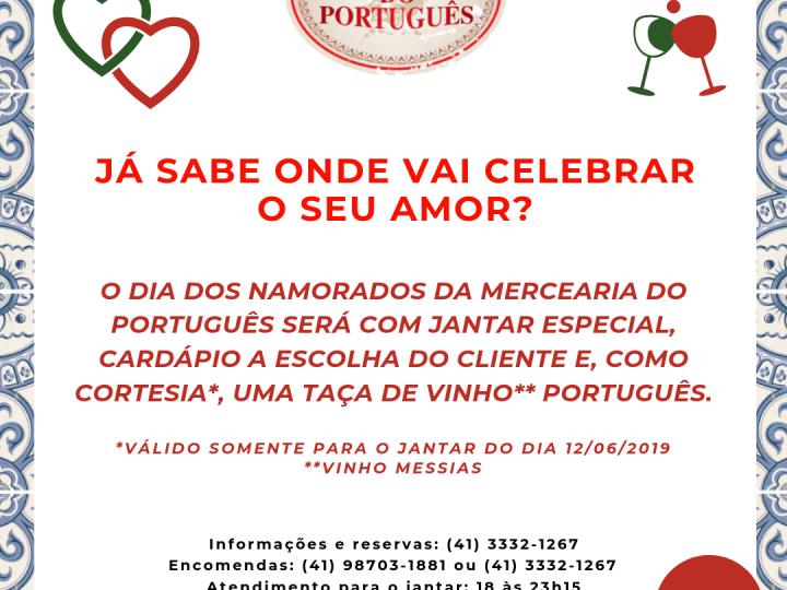 Já sabe onde vai celebrar o seu amor? O Dia dos Namorados será com jantar especial na Mercearia do Português